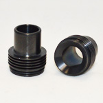 Chuff Enuff Style Drip Tip Finned 22mm (Black Stainless)